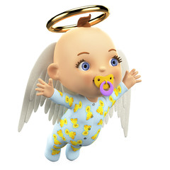 baby angel flying out