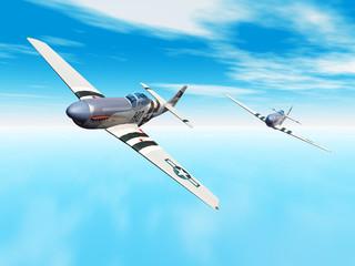 Amerikanische Jagdflugzeuge