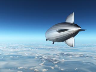 Zeppelin über den Wolken