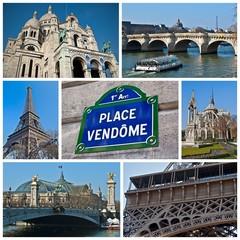 Composition de photographies de Paris