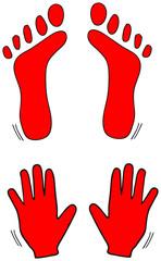 Hände und Füsse