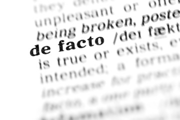 de facto (the dictionary project)