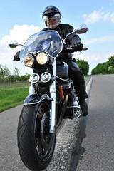 Biker auf  Motorrad