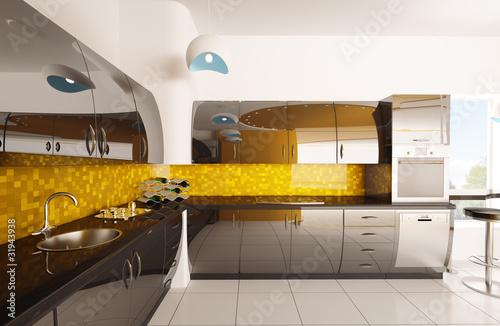 Captivating Moderne Küche Interior Design 3d Render