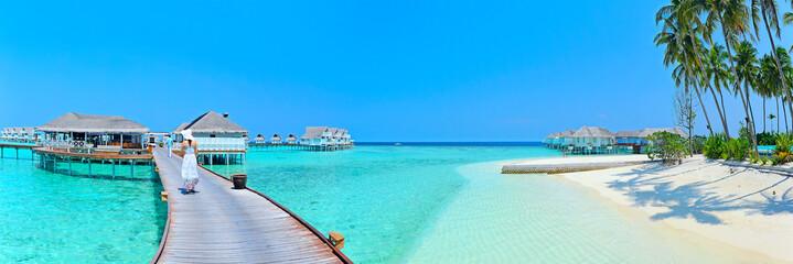 Obraz Maldives island Panorama - fototapety do salonu