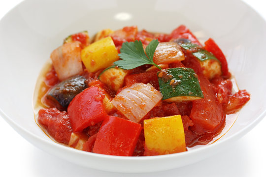 ratatouille , french vegetable stew dish