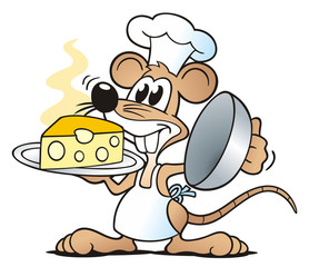 Mouse presenting Cheese