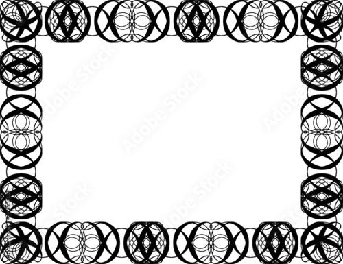 Bilderrahmen verzieren ornamente  Rahmen mit geschwungenen Ornamenten, Urkunde