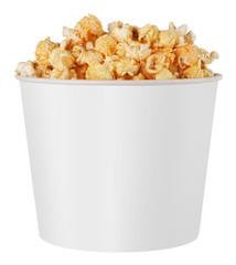 white popcorn box
