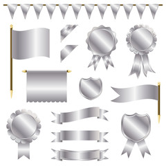 silver decorations