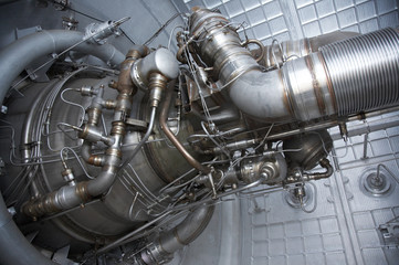 Rocket engine exposed
