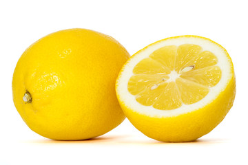lemons with clipping path