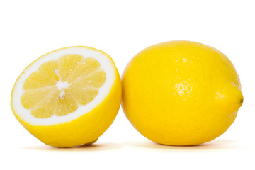 fresh lemons saved with clipping path