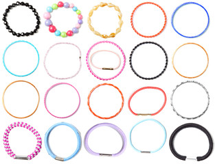 Accessories set #2: bijouterie bracelet hair band   Isolated