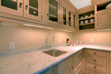 Natural wood luxury custom build kitchen