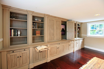 Luxury home entertainment build-in cabinets