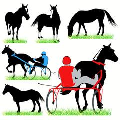 Horses & Jockeys set.03
