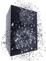 speaker box exploding