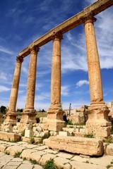 Colonnade in the Cardo Maximus, Jerash
