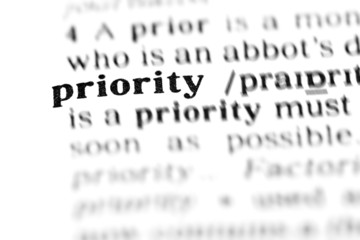 priority  (the dictionary project)