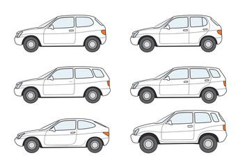 Autotypen-Familie,weiss,neutral