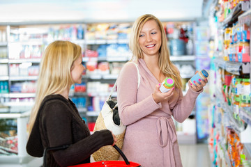 Young women shopping together