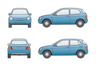 Kompaktwagenklasse,Neutale Marke, blau