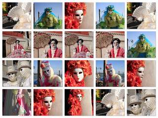 carnevale venezia desktop collage