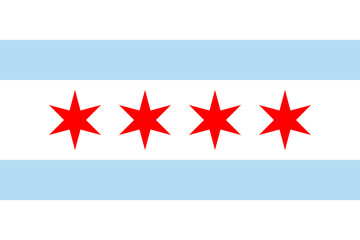 Wall Mural - Chicago flag