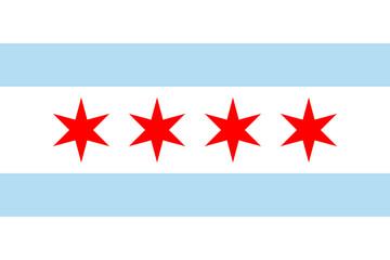Fototapete - Chicago flag