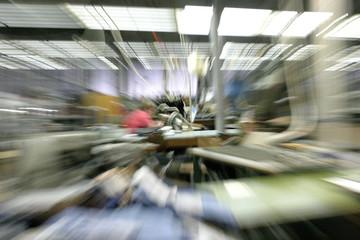 Stress und Hektik in der Produktion