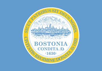 Fototapete - Boston city flag