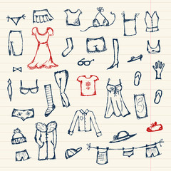 Collection of clothes sketch for your design