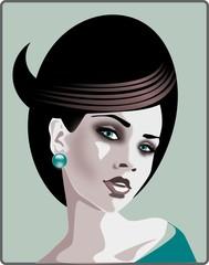 Printed kitchen splashbacks Painterly Inspiration piekna kobieta - stylizacja fryzur