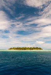 Einsame Insel im Indischen Ozean