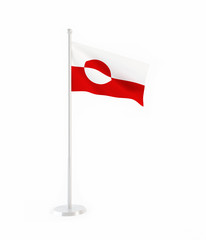 3D flag of Greenland