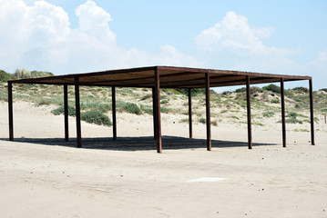 shed on the beach