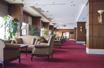 Empty lounge cafe
