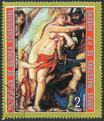 """Postage stamp Equatorial Guinea 1973: """"Peace and War"""""""