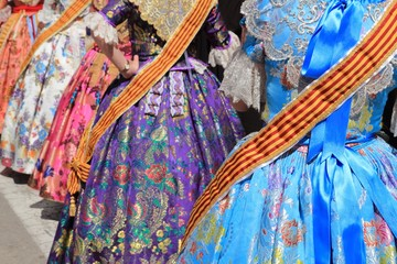 falleras costume fallas dress detail from Valencia