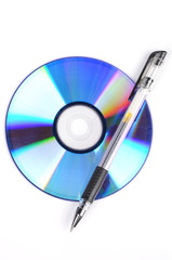 DVD and pen