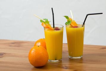 Frisch gepresster Apfelsinensaft