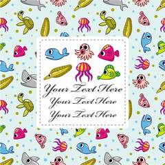 cartoon fish card