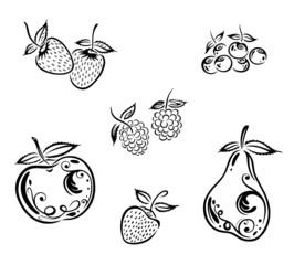 Obst, Früchte, vector set