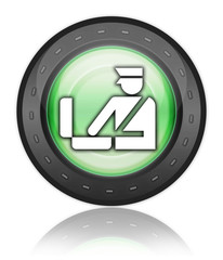 """Green Industrial Style Icon """"Customs Symbol"""""""