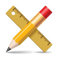 Pencil, Ruler.