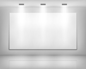 White frame in art gallery