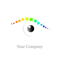 Logo rainbow eye # Vector