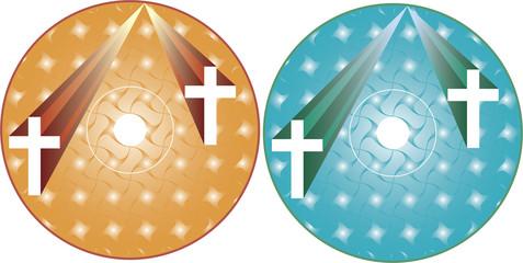 CD - DVD Label Design template