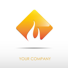 Logo fire button # Vector